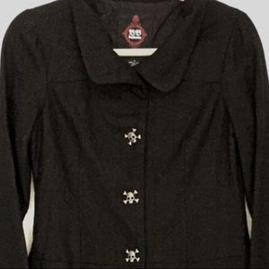 BB Dakota Skulls Coat Jacket Black Small